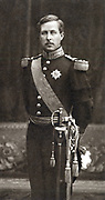 Albert I (1875-1934) King of the Belgians from 1909, in dress uniform. From a photograph.