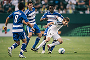 during the first half of an MLS soccer match, Wednesday, Aug. 6, 2011, in Carson, Calif. (AP Photo/Bret Hartman)