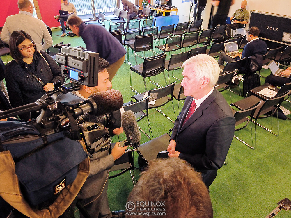 London, United Kingdom - 9 December 2019<br /> John McDonnell gives an economics speech in the run up to the general election 2019, on behalf of the Labour Party at Coin Street Community Builders, London, England, UK.<br /> (photo by: EQUINOXFEATURES.COM)<br /> Picture Data:<br /> Photographer: Equinox Features<br /> Copyright: ©2019 Equinox Licensing Ltd. +443700 780000<br /> Contact: Equinox Features<br /> Date Taken: 20191209<br /> Time Taken: 115516<br /> www.newspics.com