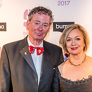 NLD/Hilversum//20170306 - uitreiking Buma Awards 2017, Harry van Hoof en partner Els