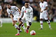 Rob Hall of MK Dons in action. The Emirates FA cup, 4th round match, MK Dons v Chelsea at the Stadium MK in Milton Keynes on Sunday 31st January 2016.<br /> pic by John Patrick Fletcher, Andrew Orchard sports photography.