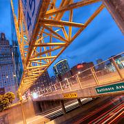 Highway overpass near Truman Road in Kansas City, Missouri.