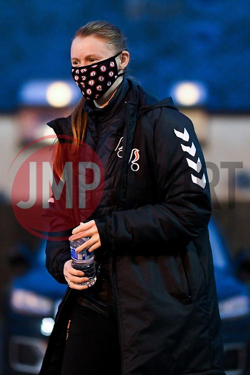 Meaghan Sargeant of Bristol City Women arrives at Twerton Park prior to kick off - Mandatory by-line: Ryan Hiscott/JMP - 14/11/2020 - FOOTBALL - Twerton Park - Bath, England - Bristol City Women v Tottenham Hotspur Women - Barclays FA Women's Super League
