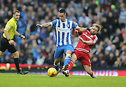 Brighton central midfielder, Beram Kayal (7) in action during the Sky Bet Championship match between Brighton and Hove Albion and Middlesbrough at the American Express Community Stadium, Brighton and Hove, England on 19 December 2015.