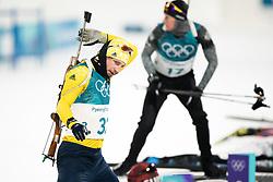 February 12, 2018 - Pyeongchang, SOUTH KOREA - 180212  Peppe Femling of Sweden prior the Men's Biathlon 12,5km Pursuit during day three of the 2018 Winter Olympics on February 12, 2018 in Pyeongchang..Photo: Jon Olav Nesvold / BILDBYRÃ…N / kod JE / 160157 (Credit Image: © Jon Olav Nesvold/Bildbyran via ZUMA Press)
