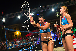 Winners Dalida Vernier with Kelly Claes at Beach Volleyball Challenge Ljubljana 2014, on August 2, 2014 in Kongresni trg, Ljubljana, Slovenia. Photo by Matic Klansek Velej / Sportida.com