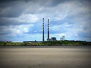 Poolbeg Chimneys, Ringsend. Dublin,  1971 and 1977, ESB Generating Station,
