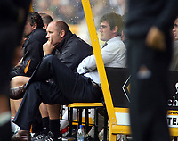 Photo: Rich Eaton.<br /> <br /> Wolverhampton Wanderers v Luton Town. Coca Cola Championship. 26/08/2006. Manager of Luton Mike Newell, right, watches his team lose 1-0 at Wolves