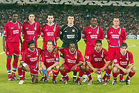 Fotball<br /> UEFA Champions League 2003/2004<br /> Lyon v Anderlecht<br /> 17.09.2003<br /> NORWAY ONLY<br /> Foto: Digitalsport<br /> <br /> FOOTBALL - CHAMPIONS LEAGUE 2003/04 - 1ST ROUND - 030917 - OLYMPIQUE LYONNAIS v RSC ANDERLECHT - TEAM LYON ( BACK ROW LEFT TO RIGHT : MAHAMADOU DIARRA / EDMILSON / A&NTHONY REVEILLERE / GREGORY COUPET / MICKAEL ESSIEN / ERIC DEFLANDRE . FRONT ROW : VIKASH DHORASOO / PATRICK MULLER / SYDNEY GOVOU / GIOVANE ELBER / JUNINHO ) - PHOTO STEPHANE MANTEY