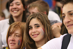 Young fans of France at the 1st day of  European Athletics Indoor Championships Torino 2009 (6th - 8th March), at Oval Lingotto Stadium,  Torino, Italy, on March 6, 2009. (Photo by Vid Ponikvar / Sportida)