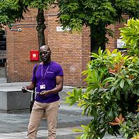 Community Fibre website shots;<br /> Compton Simon in the community;<br /> World's End Estate, SW10 0EA.<br /> 28th July 2021.<br /> <br /> © Pete Jones/Bluelightproductions;<br />www.bluelightproductions.org