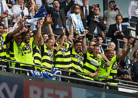 Football - 2016 / 2017 Championship Playoff Final: Reading vs. Huddersfield<br /> <br /> Huddesfield Town lift the play off final trophy at Wembley Stadium.<br /> <br /> COLORSPORT/DANIEL BEARHAM