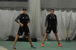 The Overton brothers Craig and Jamie during training.  - Mandatory byline: Alex Davidson/JMP - 11/02/2016 - CRICKET - The Cooper Associates County Ground -Taunton,England - Somerset CCC  Media access - Pre-Season