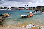 Israel, Caesarea, the ancient port now used by fishermen
