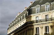 Frankrijk, Parijs, 28-3-2010Gebouwen bij de Boulevard Haussmann. Exterieur.Foto: Flip Franssen/Hollandse Hoogte