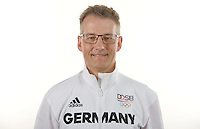 Michael Geiger poses at a photocall during the preparations for the Olympic Games in Rio at the Emmich Cambrai Barracks in Hanover, Germany. July 04, 2016. Photo credit: Frank May/ picture alliance. | usage worldwide