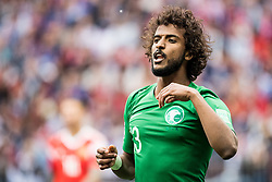 June 14, 2018 - Moscow, Russia - 180614 Yasir Alshahrani of Saudi Arabia during the FIFA World Cup group stage match between Russia and Saudi Arabia on June 14, 2018 in Moscow..Photo: Petter Arvidson / BILDBYRÃ…N / kod PA / 92065 (Credit Image: © Petter Arvidson/Bildbyran via ZUMA Press)