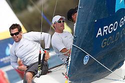 Jesper Radich (R) during the quarter finals of the Argo Group Gold Cup 2010. Hamilton, Bermuda. 9 October 2010. Photo: Subzero Images/WMRT