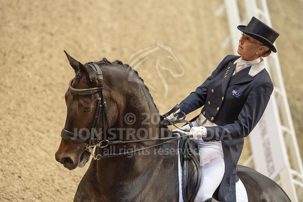 Mary Hanna (AUS) & Umbro - Grand Prix - Reem Acra FEI World Cup Final - Scandinavium Arena, Gothenburg, Sweden - 25 Mar 2015
