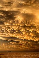 Mammatus clouds over Dodge City, Kansas, May 24, 2016.