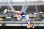 Holly Bradshaw, GB, during the IAAF World Championships at the London Stadium, London, England on 6 August 2017. Photo by Myriam Cawston.