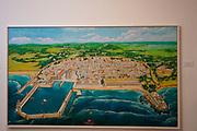 Map King Herod's City (Caesarea) Exhibited at the Ralli Museum, Caesarea, Israel.