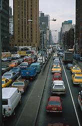 Traffice jam in Midtown Manhattan