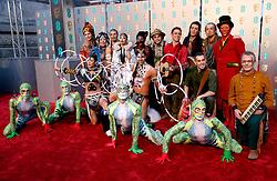 The cast of Cirque du Soleil's Totem attending the 72nd British Academy Film Awards held at the Royal Albert Hall, Kensington Gore, Kensington, London.