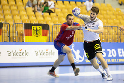 Lukas Kister of Germany during handball match between National teams of Serbia and Germany in Main Round of 2018 EHF U20 Men's European Championship, on July 25, 2018 in Arena Zlatorog, Celje, Slovenia. Photo by Urban Urbanc / Sportida