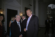 Prof Mikhail Piotrovsky and HE Yuri Fedolov. France in Russia:  Empress Josephine's Malmaison Collection. Hermitage Rooms, Somerset House. London. 23 July 2007.   -DO NOT ARCHIVE-© Copyright Photograph by Dafydd Jones. 248 Clapham Rd. London SW9 0PZ. Tel 0207 820 0771. www.dafjones.com.