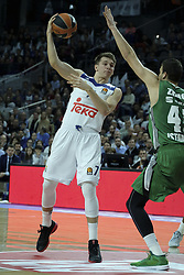 February 24, 2017 - Madrid, Madrid, Spain - Luka Doncic  of Real Madrid during the 2016/2017 Turkish Airlines Euroleague Regular Season Round 23 game between Real Madrid and Darussafaka Dogus Istanbul at Barclaycard Center on February 24, 2017 in Madrid, Spain. (Credit Image: © Oscar Gonzalez/NurPhoto via ZUMA Press)