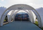 Poznan, POLAND. New Wave - FISA Tent.  2015 FISA European Rowing Championships. Venue, Lake Malta. Friday 29.05.2015. [Mandatory Credit: Peter Spurrier/Intersport Images]