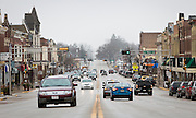 REEDSBURG, WI – JANUARY 20: A view down Main Street in Reedsburg, Wisconsin on January 20, 2017.