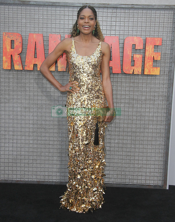 Rampage Premiere at The Microsoft Theatre in Los Angeles, California on 4/4/18. 04 Apr 2018 Pictured: Naomi Harris. Photo credit: River / MEGA TheMegaAgency.com +1 888 505 6342