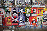 Highly politicised virus street art and graffiti is in Shoreditch as lockdown continues and people observe the stay at home message in the capital on 12th May 2020 in London, England, United Kingdom. Coronavirus or Covid-19 is a new respiratory illness that has not previously been seen in humans. While much or Europe has been placed into lockdown, the UK government has now announced a slight relaxation of the stringent rules as part of their long term strategy, and in particular social distancing.