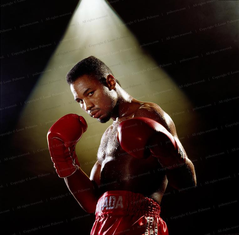 Lennox Lewis, World Heavyweight Boxing Champion.