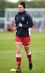 Bristol Academy's Jasmine Matthews warms up before the FA Women's Super League game between Bristol Academy Women and Notts County Ladies FC on 25 April 2015 in Bristol, England - Photo mandatory by-line: Paul Knight/JMP - Mobile: 07966 386802 - 25/04/2015 - SPORT - Football - Bristol - Stoke Gifford Stadium - Bristol Academy Women v Notts County Ladies FC - FA Women's Super League
