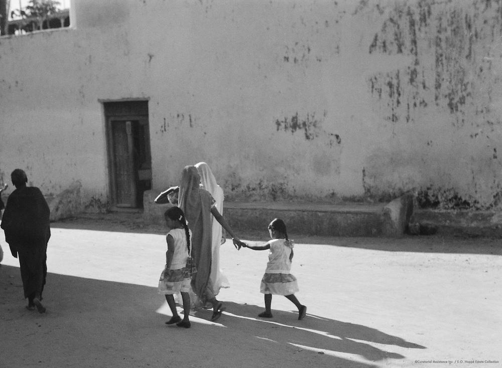 Women Walking with Children, Mombasa, Kenya, Africa, 1937