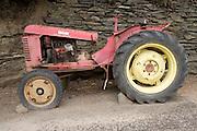 old broken down tractor