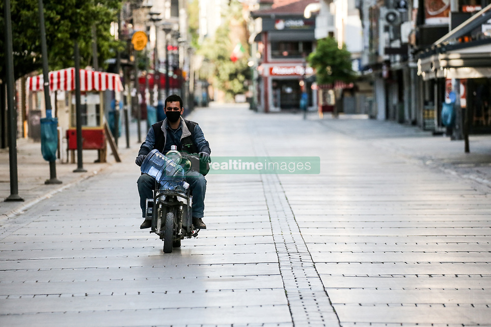 Empty Izmir city, Turkey on April 18, 2020, during a two-day curfew declared by the government in an attempt to control the spread of coronavirus. Photo by Emre Tazegul/Depo Photos/ABACAPRESS.COM