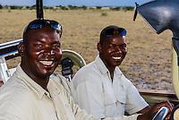 A safari guide and tracker, Nxai Pan National Park, Botswana.