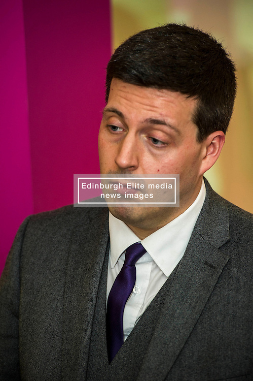 Pictured: Jamie Hepburn.<br /> <br /> Today, Minister for employability and training, Jamie Hepburn MSP visited Remploy in Edinburgh where he announced new employment services funding. Mr Hepburn gave details on cash which will develop new ways of supporting the Scottish Government's new devolved employment services. <br /> <br /> Ger Harley | EEm 21 December 2016