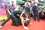 KUNMING, CHINA - AUGUST 10: (CHINA OUT)<br /> <br /> Kiss Contest For The Chinese Valentine's Day <br /> <br /> People kiss during the kiss Contest for the up comming Chinese Valentine's Day on august 10, 2013 in Kunming, Yunnan Province of China. The Chinese Valentine's Day falls on the 7th day of the 7th month on the Chinese lunar calendar.<br /> ©Exclusivepix