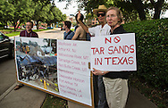 Activists at a pipeline safety confernce in Dallas.