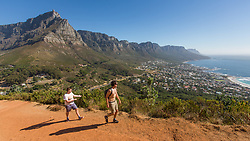 Lions Head hike overlooking Camps Bay, Cape Town, South Africa. 08/01/15. Photo by Andrew Tallon