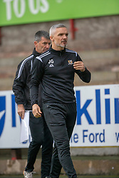 Alloa Athletic's manager Jim Goodwin. Dunfermline 2 v 2 Alloa Athletic. Alloa win on penalties. Irn Bru cup game played 13/10/2018 at Dunfermline's home ground, East End Park.