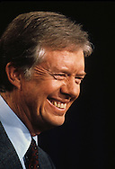 President Jimmy Carter answers questions at a press conference in the East Room of the White House in July 1979.<br /> <br /> Photograph by Dennis Brack<br /> bb45