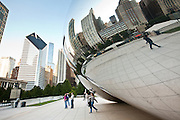 Cloud Gate also knows as the Chicago Bean in Millennium Park in Chicago, IL, USA. The work is the creation of artist Anish Kapoor.
