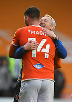 Blackpool's Manager Neil Critchley congratulates Gary Madine<br /> <br /> Photographer Dave Howarth/CameraSport<br /> <br /> The EFL Sky Bet Championship - Blackpool v Preston North End - Saturday 23rd October 2021 - Bloomfield Road - Blackpool<br /> <br /> World Copyright © 2020 CameraSport. All rights reserved. 43 Linden Ave. Countesthorpe. Leicester. England. LE8 5PG - Tel: +44 (0) 116 277 4147 - admin@camerasport.com - www.camerasport.com