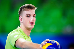 Saso Stalekar of Slovenia during volleyball match between Cuba and Slovenia in Final of FIVB Volleyball Challenger Cup Men, on July 7, 2019 in Arena Stozice, Ljubljana, Slovenia. Photo by Matic Klansek Velej / Sportida